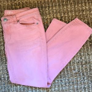 Ann Taylor Distressed Skinny Crop Jeans